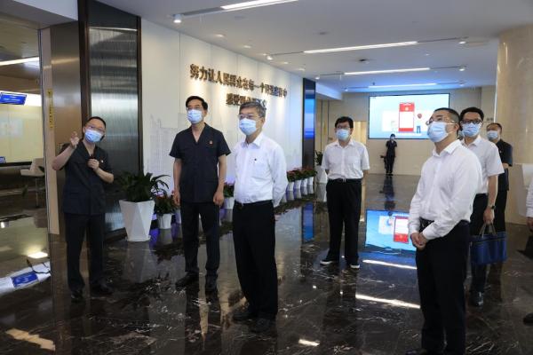 深圳市中级人民法院党组书记、院长张应杰率队到前海法院调研