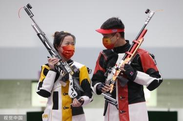 再下一金!混合10米气步枪杨倩杨皓然夺冠
