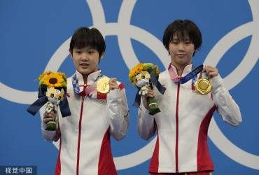 第8金!张家齐陈芋汐女子双人10米台夺冠